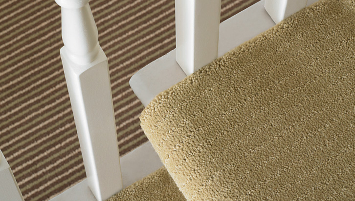 Stair Runners with Striped Carpet - Stair Carpets - Fludes ...
