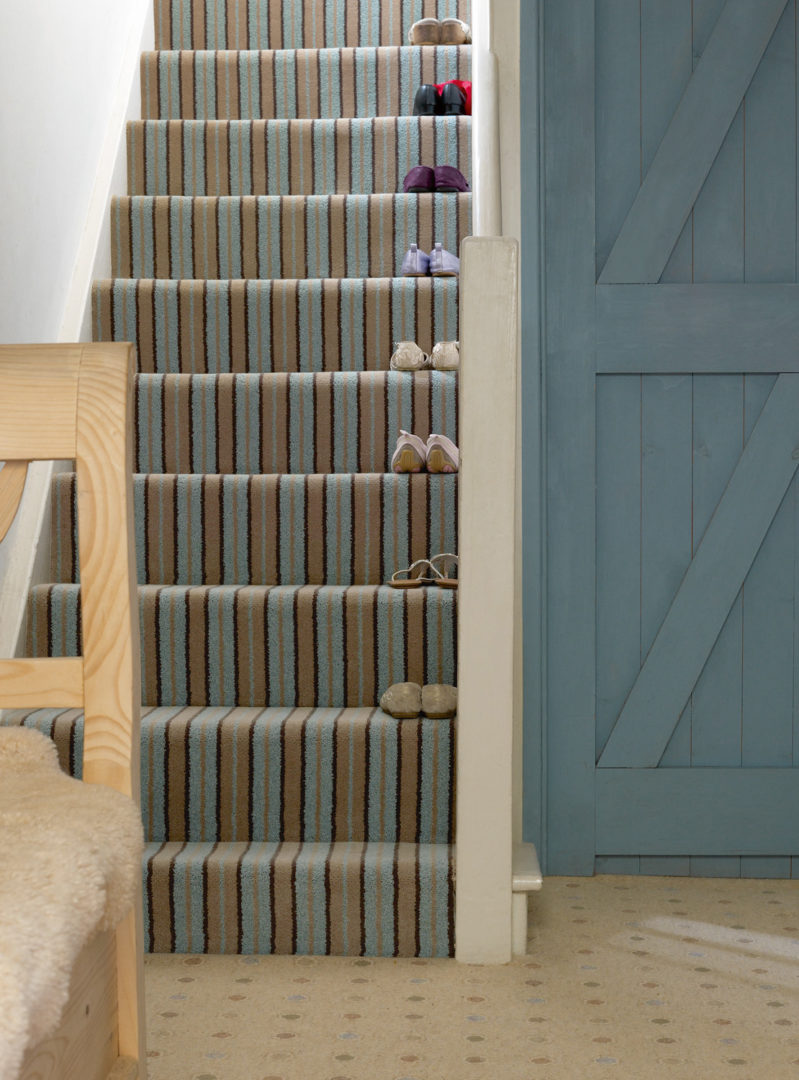 Striped Stair Carpet Is The Way To Go Fludes Carpets